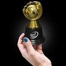 4 3/4'' Gold Plastic Baseball Trophy
