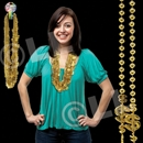 36'' Gold Dollar Sign Bead Necklace