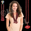 33'' (8mm) Red Football Bead Necklace