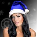 Blue Felt Santa Hat