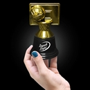 4 3/4'' Gold Plastic Basketball Trophy