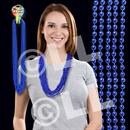 33'' (7mm) Metallic Blue Bead Necklace