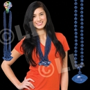 33'' (8mm) Blue Football Bead Necklace