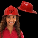 Red Plastic Firefighter Hat