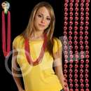 33'' (7mm) Metallic Red Bead Necklace