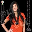 33'' (8mm) Black Football Bead Necklace