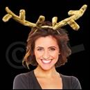 Plush Reindeer Antler Headband