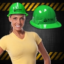 Green Plastic Construction Hats