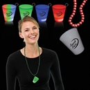 2 oz Light Up Neon Shot Glass Medallion