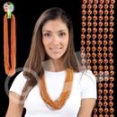 33'' (7mm) Metallic Orange Bead Necklace