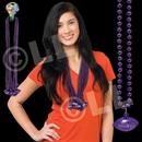 33'' (8mm) Purple Football Bead Necklace