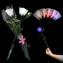 14'' Light Up White Roses w/ Multi Colored L.E.D.'s