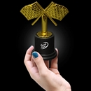 3 1/2'' Checkered Flag Trophy