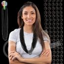 33'' (7mm) Metallic Black Bead Necklace