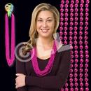 33'' (7mm) Metallic Pink Bead Necklace