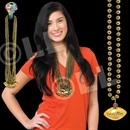 33'' (8mm) Gold Football Bead Necklace