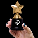 5'' Plastic Gold Star Trophy