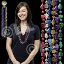 33'' Assorted Color Casino Bead Necklace