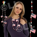 42'' American Flag Necklace