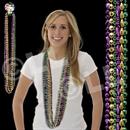 48'' (8mm) Mardi Gras Bead Necklaces
