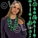 33'' Shamrock Metallic Green Bead Necklace