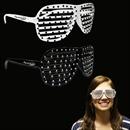 Black & White Sparkle Slotted Glasses