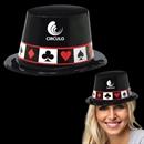 Casino Black Plastic Top Hat