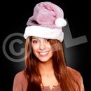 Mrs. Claus Pink Plush Santa Hat