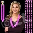33'' (7mm) Metallic Light Pink Bead Necklace