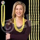 33'' (7mm) Yellow Bead Necklace