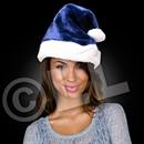 Blue Plush Santa Hat