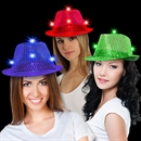 Light Up Sequin Fedoras - Variety of Colors