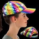 Rainbow Sequin LED Baseball Cap