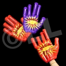 15'' Assorted Color High Five Hands