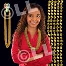 33'' (7mm) Metallic Gold Bead Necklace