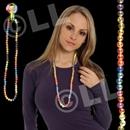 42'' (14mm) Rainbow Bead Necklace