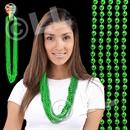 33'' (7mm) Metallic Green Bead Necklace