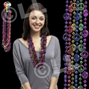 33'' Peace Sign Bead Necklace