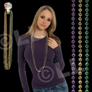 42'' (7.5mm) Metallic Mardi Gras Beads