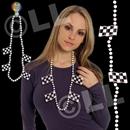 42'' Checkered Flag Necklace