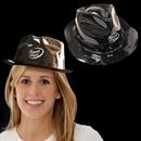 Black Plastic Fedora, gangster Hat