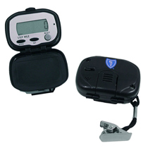 3 Button, Black Pedometer with BlueShield Logo