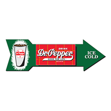 "<p class=""name"">Dr Pepper Vintage Arrow Aluminum Sign</p>"